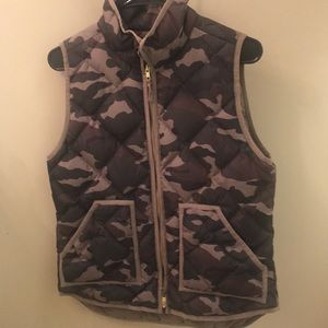 Cami J.Crew vest front pockets with snaps.